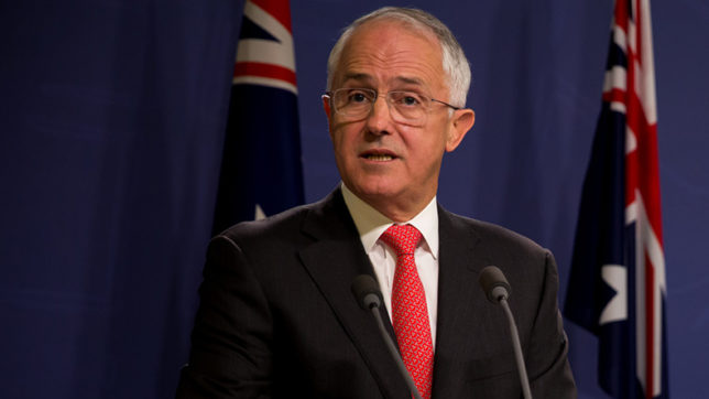 Australian PM Malcom Turnbull condemns predecessor for being 'too drunk'