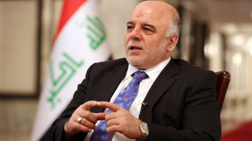Iraqi PM Haider al-Abadi vows to free 'every inch' of land from Islamic State