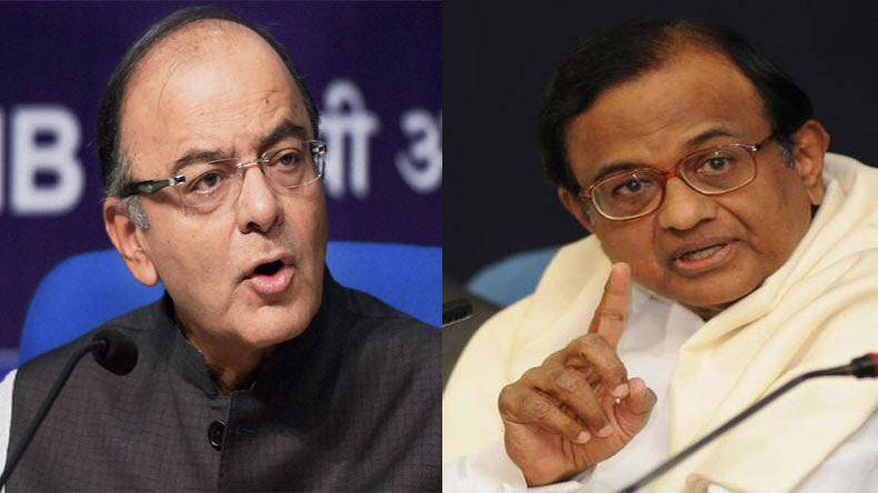 Aadhaar row: Jaitley, Chidambaram engage in war of words in Parliament