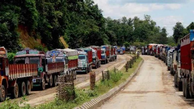 Stranded trucks, oil tankers arrive in Imphal