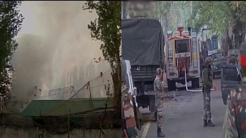 J&K: Fire breaks out at army camp in Baramulla