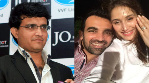 Saurav Ganguly wishes Zaheer on engagement announcement