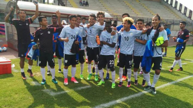 In a first, India U-17 beat Italy in friendly derby