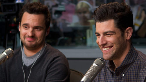Max Greenfield has kissed Jake Johnson the most