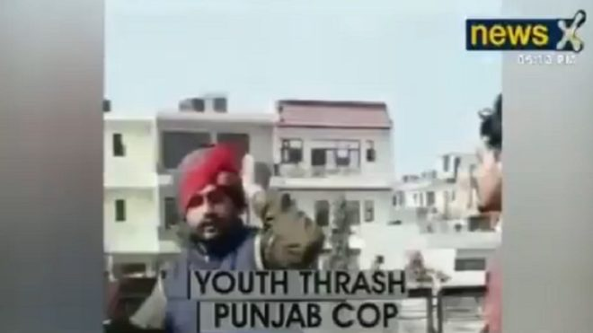 Video of Punjab police cop being thrashed by youth goes viral, 3 arrested