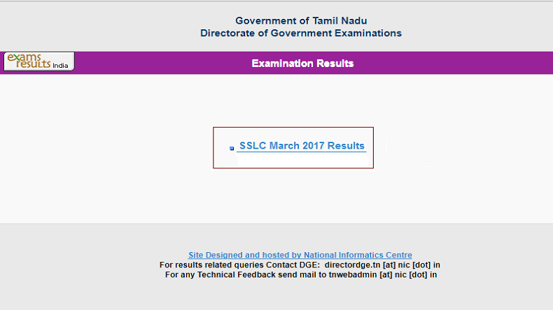 SSLC Result 2017 Tamil Nadu 10th result declared
