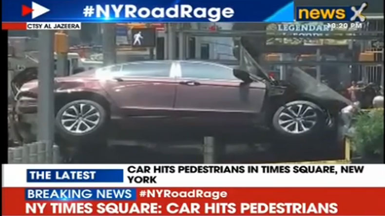 New York: One dead, several injured after speeding car hits pedestrians in Times Square