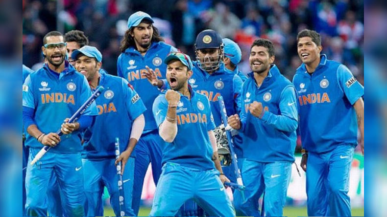 Indian team announced for next months Champions Trophy