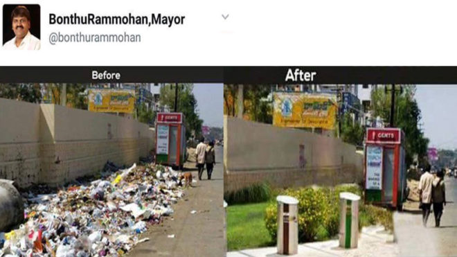 Hyderabad Mayor gets trolled for his 'virtually clean' city post