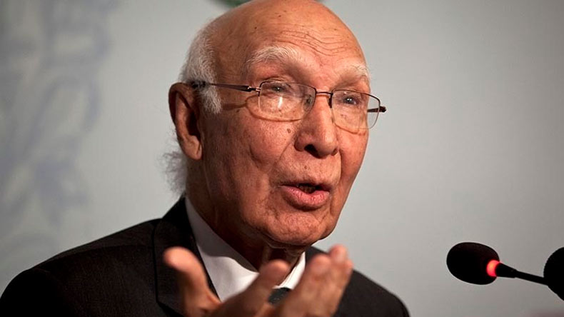 Pakistan to form new team of lawyers in Kulbhushan Jadhav case, says Sartaj Aziz