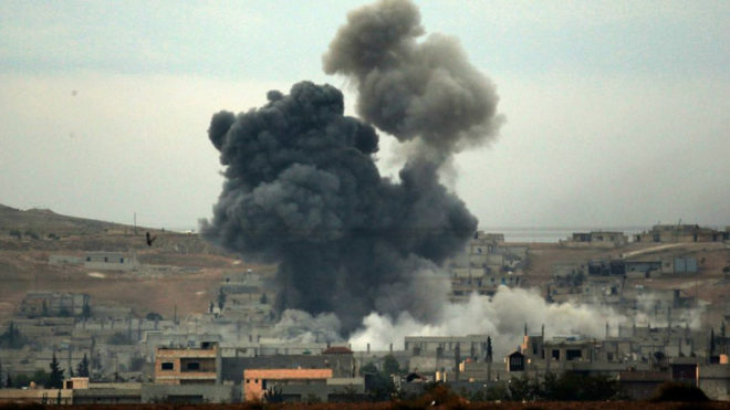 Syria: US-led airstrike kills 12, injures 30