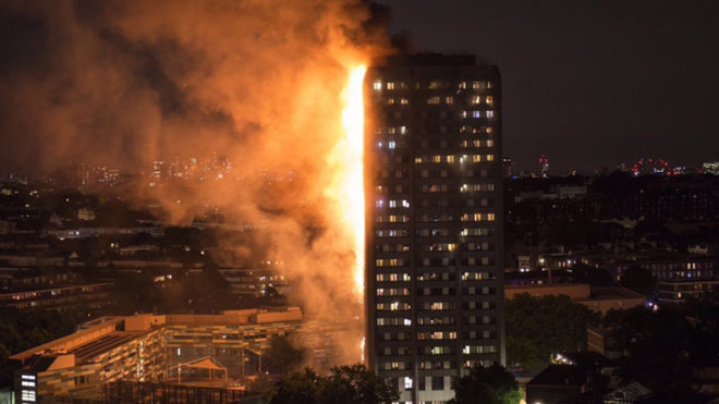 Grenfell Tower's cladding was banned in UK, says official