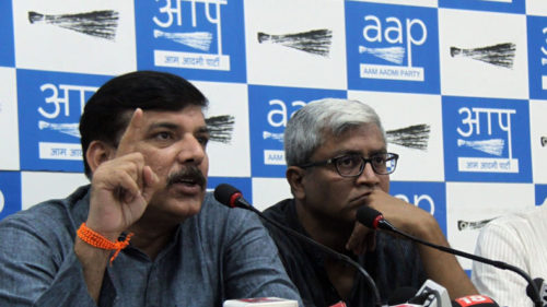 AAP leaders meet Lt Governor on party office issue