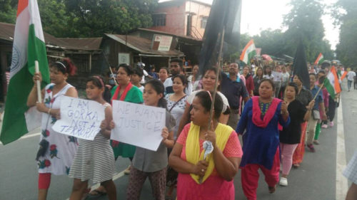 Gorkha Janmukti Morcha holds rally in Darjeeling, burns GTA accord papers