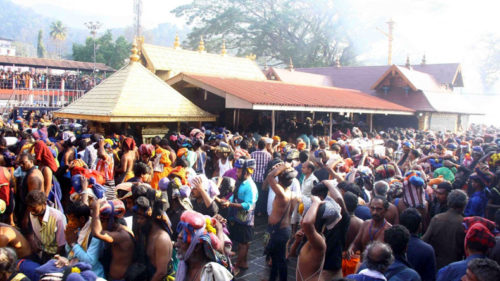 Devotees in Sabarimala temple say they didn't damage flag post, only did a ritual