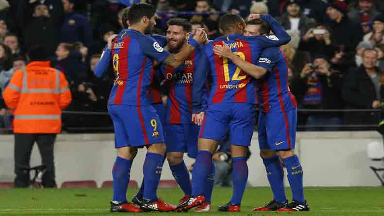 Barcelona beat Real Madrid 3-2 in Champions Cup