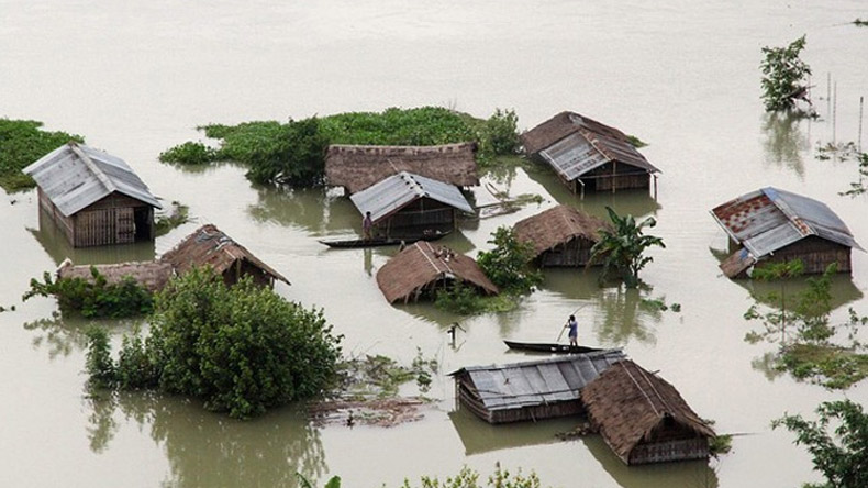 Assam: Flood situation still remains grim , new areas submerged