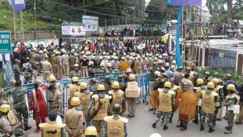 GJM rallies for internet restoration in Darjeeling