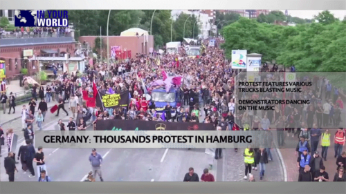 In Your World: North Korea tests its first ICBM; thousands protest in Germany's Hamburg & more