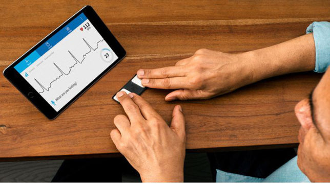 Smartphone-based device to transmit ECG in US
