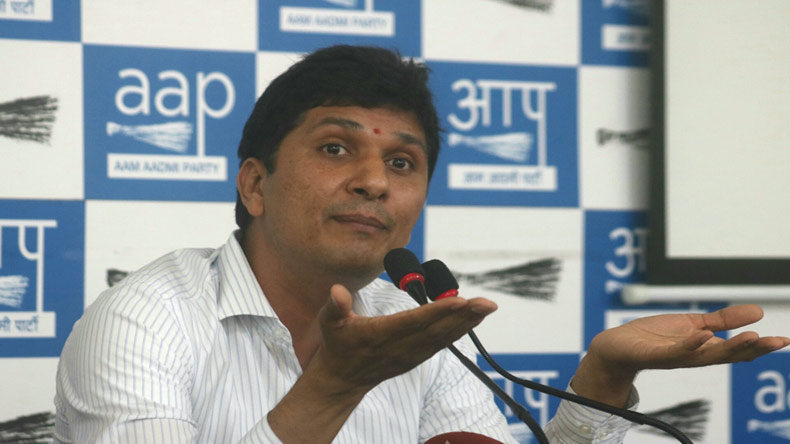 New Delhi: AAP leader Saurabh Bhardwaj addresses a press conference in New Delhi, on June 2, 2017. (Photo: IANS)