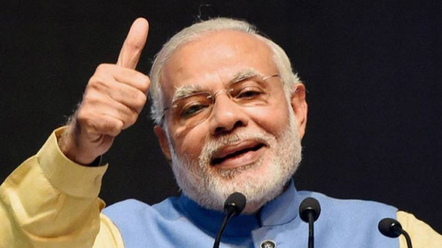 PM Modi asks people to live for 'New India'