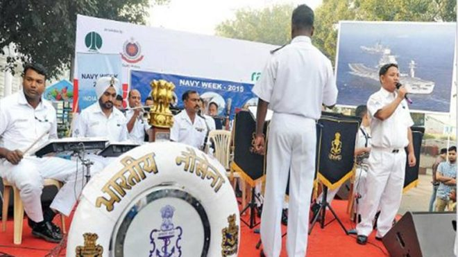 Widows of Royal Indian Navy sailors honoured by Indian Navy