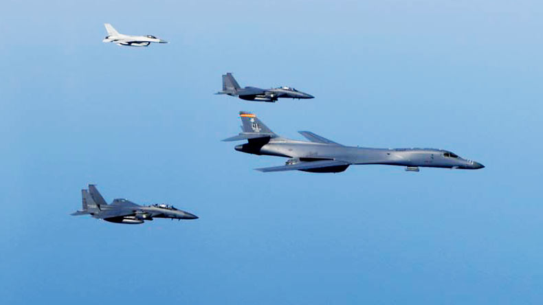 US deploys bombers in response to N. Korean missile launch