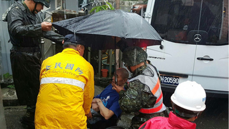 China: More than 3,100 people evacuated as Typhoon Nesat approaches