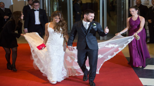 Lionel Messi marries childhood sweetheart