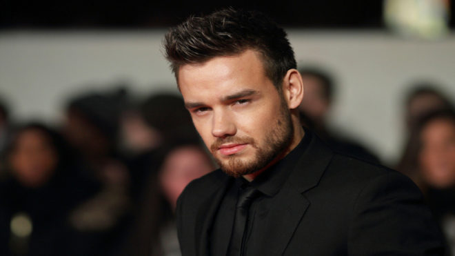 Liam Payne takes selfies with fans on street