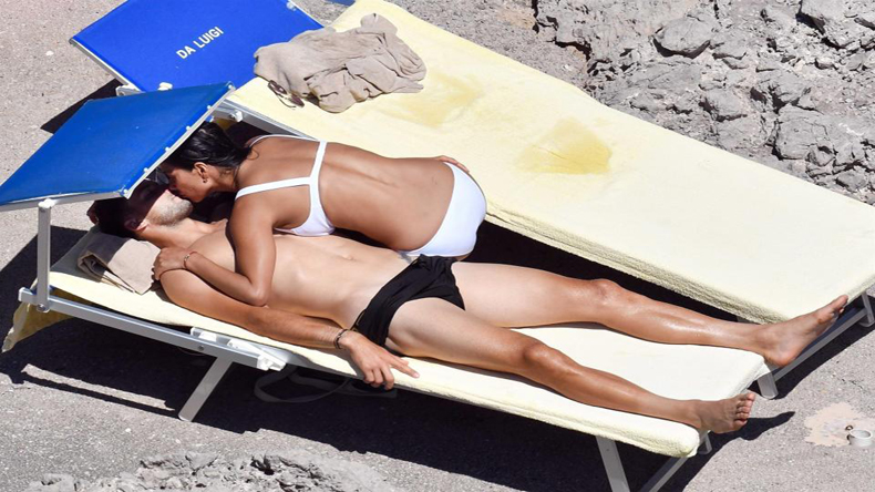 Nicole Scherzinger cosies up to Grigor Dimitrov on holiday