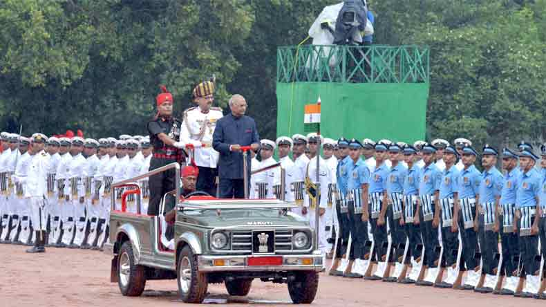 Rain briefly disrupts Guard of Honour ceremony for new President