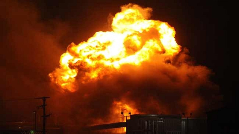 Eight tankers close to Indian Oil terminal at Siliguri charred