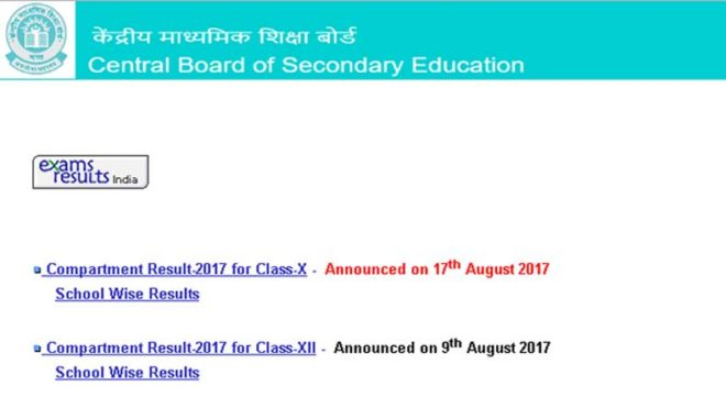 CBSE class 10 compartment results declared; check @ cbseresults.nic.in