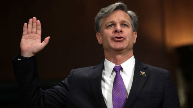 Christopher Wray sworn in as FBI chief