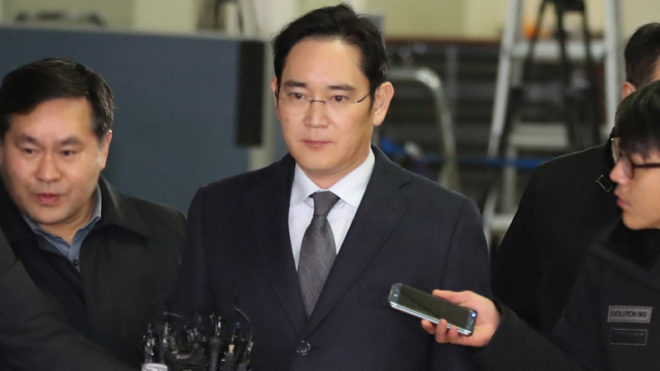 South Korea divided over imprisonment of Samsung heir