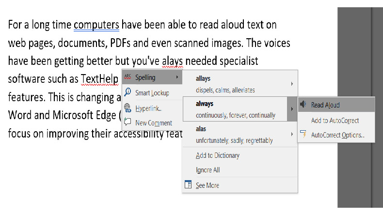 Microsoft Word launches 'Read Aloud' text for the dyslexic