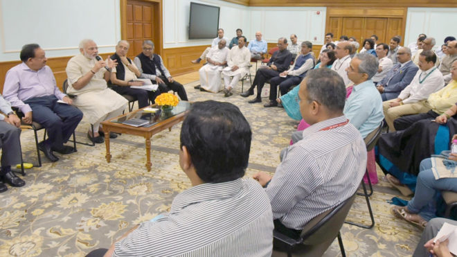 Work towards creating a New India by 2022, PM Modi tells top officers