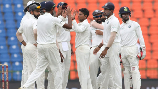India thrash Sri Lanka by innings and 171 runs to clean sweep Test series 3-0