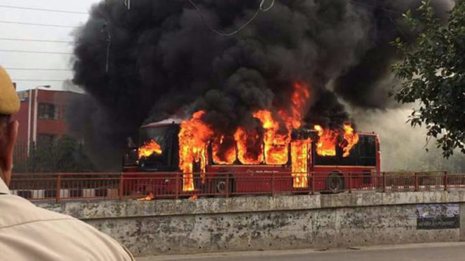 Violence erupts in Delhi hours after Dera chief's conviction