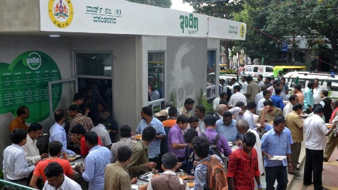 Thousands queue up at Indira Canteens, many return empty-handed