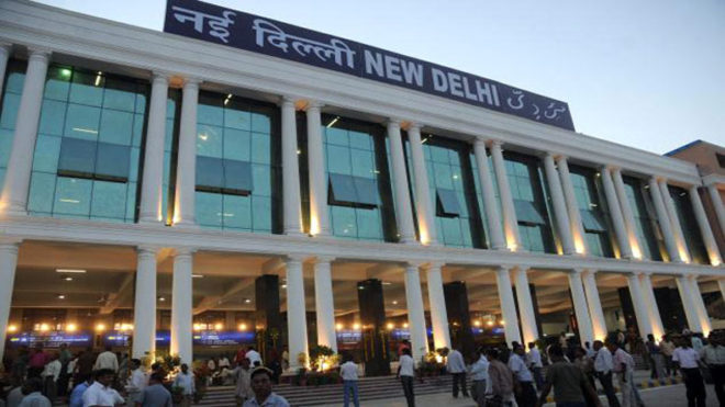 Searches on at New Delhi Railway station after bomb call