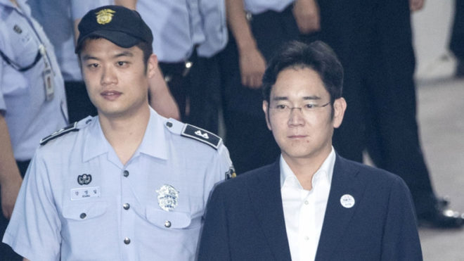Samsung Vice Chairman Lee Jae-yong sentenced to 5 years in prison