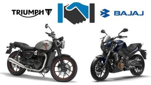 Triumph motorcycles and Bajaj Auto announce global partnership