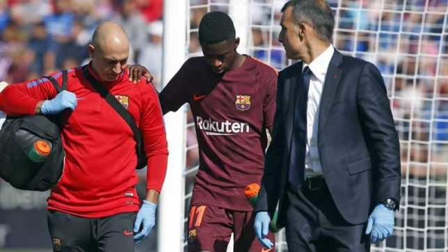 Barcelona key man Ousmane Dembele out for 4 months due to thigh injury