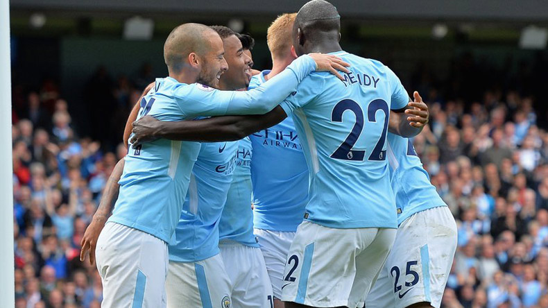 English Premier League: Manchester City thrash 10-man Liverpool 5-0