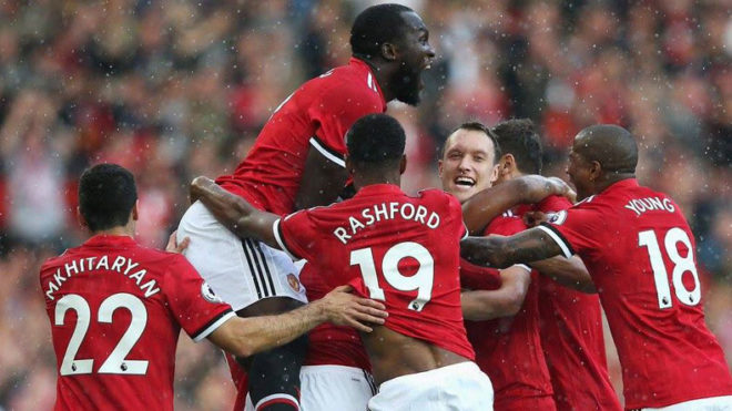Manchester United humiliate Everton 4-0 to stay on top of Premier League table