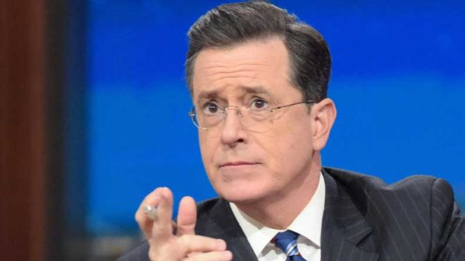 Stephen Colbert takes aim at Trump in Emmys opening monologue