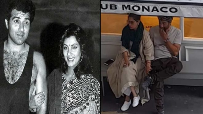 'Rumoured couple' Sunny Deol & Dimple Kapadia spotted in London